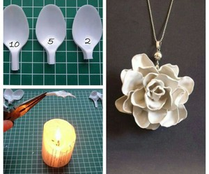 diy, flower, and candle image