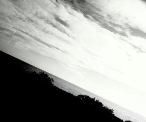 black and white, home, and clouds image