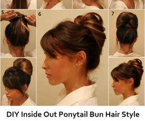 bun, hair style, and inside out image