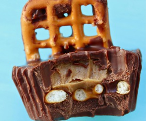 chocolate, peanut butter, and pretzel image