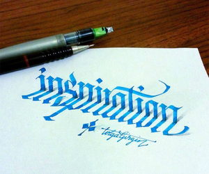 art, inspiration, and calligraphy image