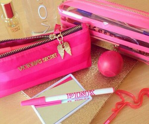 pink and school image