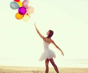 dance, ballet, and balloons image