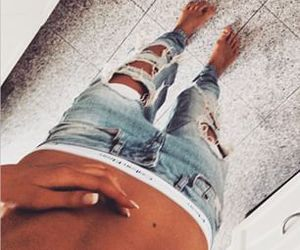 jeans and girl image