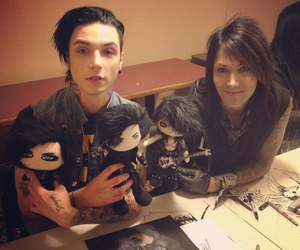 andy biersack, black veil brides, and ashley purdy image