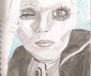 abbey lee, drawing, and fashion image