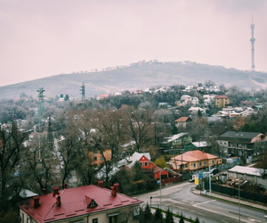 Almaty, roofs, and trees image