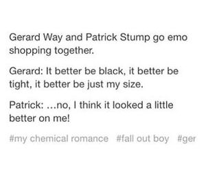 fall out boy, funny, and gerard way image