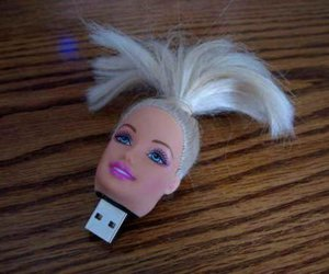 barbie, usb, and funny image