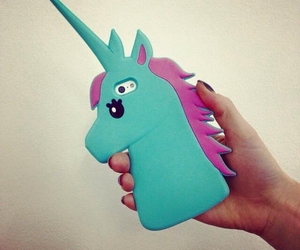 unicorn, case, and iphone image