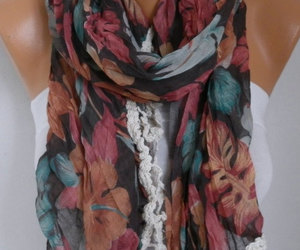 accessories, scarf, and women image