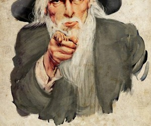 gandalf, lord of the rings, and uncle sam image