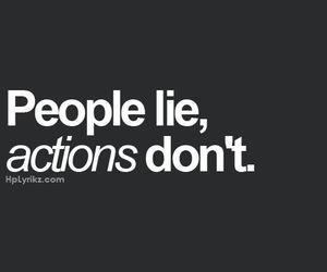 quote, lie, and actions image