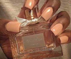miss dior, peach, and perfume image