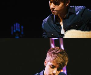 justin bieber, justin, and guitar image