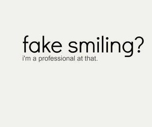 fake, smile, and smiling image
