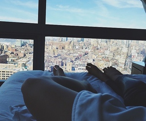 city, bed, and kendall jenner image