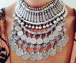 fashion, necklace, and silver image