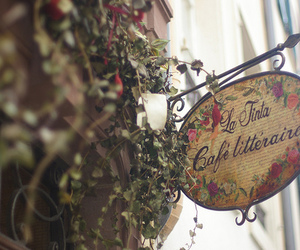 france, sign, and cafe image