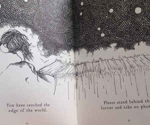 world, black and white, and tiny stories image