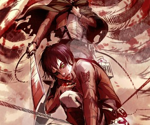attack on titan, anime, and art image