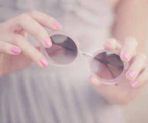 pastel, pink, and sunglasses image