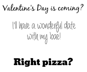 date and pizza image