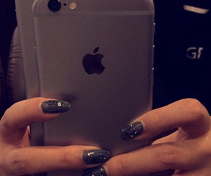 iphone, space grey, and iphone 6 plus image