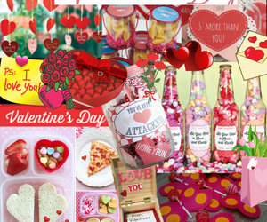 pink, gifts, and hearts image