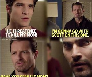 teen wolf, scott mccall, and derek hale image