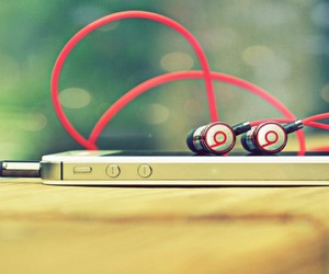 music, iphone, and beats image