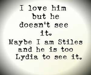 him, lydia, and stiles image