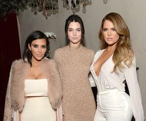 kendall jenner, kim kardashian, and khloe kardashian image