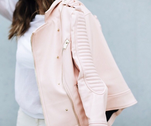 jacket, leather, and pink image