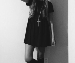 grunge, style, and black and white image