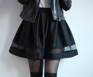 black, fashion, and skirt image