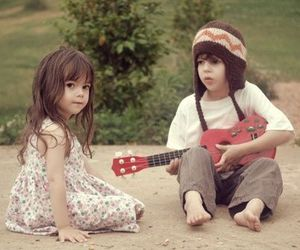 cute, kids, and guitar image
