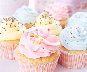 colors, cupcakes, and sweet image