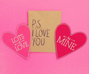 pink, hearts, and valentine's image