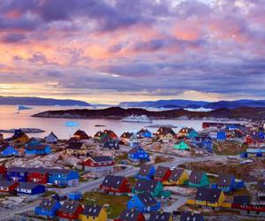 house, greenland, and sky image