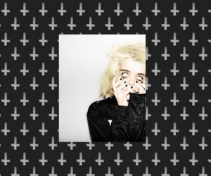 background, black, and sky ferreira image