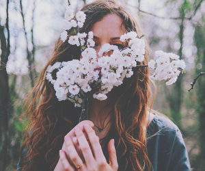 flowers, girl, and hipster image