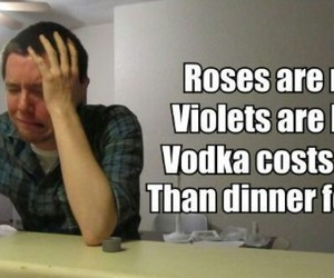 vodka, funny, and rose image
