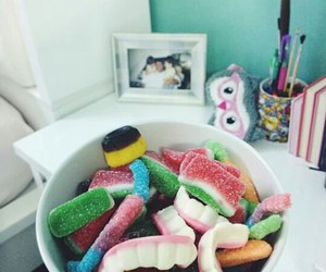 eat, food, and gummy image