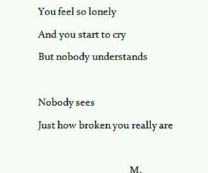 broken, cry, and lonely image
