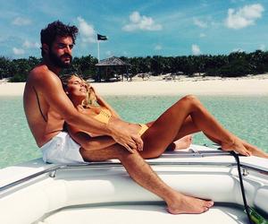 beach, happy, and tan image