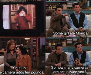 friends, funny, and monica image