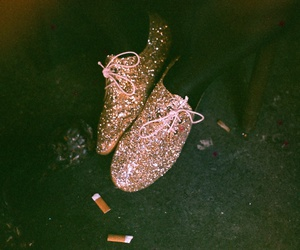 glitter, shoes, and fashion image