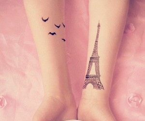 tattoo, paris, and bird image
