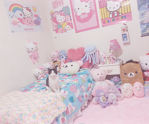hello kitty, rilakkuma, and girly image